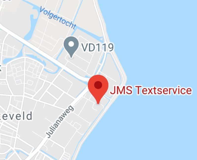JMS Juridisch Vertaalbureau footer kaart